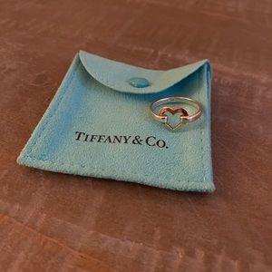 Two toned Tiffany & Co. heart shaped ring